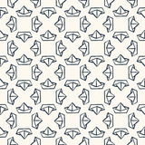 Seamless nautical pattern with paper boats. Stock Image