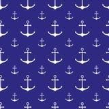 Seamless nautical pattern Stock Images