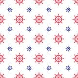 Seamless nautical pattern Stock Photography