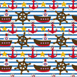 Seamless nautical pattern Royalty Free Stock Photo