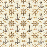 Seamless nautical pattern Stock Image