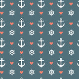 Seamless nautical pattern Royalty Free Stock Images