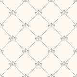 Seamless nautical retro pattern with paper boats. Royalty Free Stock Images