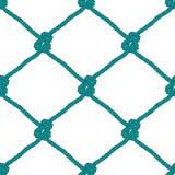 Seamless nautical rope knot pattern Stock Photo