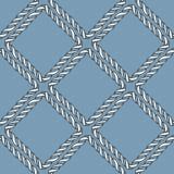 Seamless nautical rope knot pattern Royalty Free Stock Photos