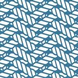 Seamless nautical rope knot pattern, lattice Royalty Free Stock Photos