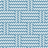 Seamless nautical rope knot pattern, lattice Stock Images