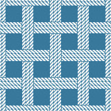 Seamless nautical rope knot pattern, lattice Royalty Free Stock Photos