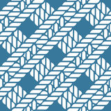 Seamless nautical rope knot pattern, lattice Royalty Free Stock Images