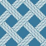 Seamless nautical rope knot pattern, lattice Stock Photo