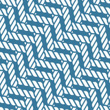 Seamless nautical rope knot pattern, lattice Royalty Free Stock Photo