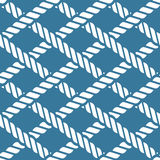 Seamless nautical rope knot pattern, lattice. Seamless navy blue nautical rope knot pattern, fishing net, lattice Royalty Free Stock Photography
