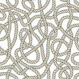 Seamless Nautical Rope Pattern Stock Photography