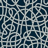 Seamless Nautical Rope Pattern Royalty Free Stock Photography