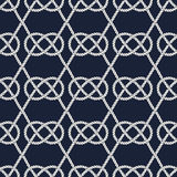 Seamless nautical rope pattern. Carrick Bend knot Royalty Free Stock Photography