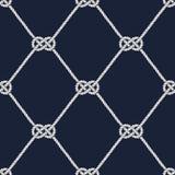 Seamless nautical rope pattern. Carrick Bend knot Stock Photography