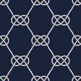 Seamless nautical rope pattern. Carrick Bend knot Stock Photos