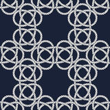 Seamless nautical rope pattern. Carrick Bend knot Stock Photo