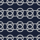 Seamless nautical rope pattern. Carrick Bend knot Royalty Free Stock Photos