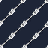 Seamless nautical rope pattern - Figure 8 knots Royalty Free Stock Photo