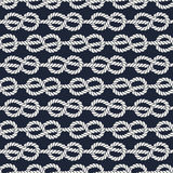 Seamless nautical rope pattern - Figure 8 knots Royalty Free Stock Images