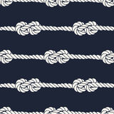 Seamless nautical rope pattern - Figure 8 knots Stock Photography