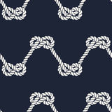 Seamless nautical rope pattern - Figure 8 knots Stock Photo