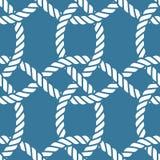 Seamless nautical rope pattern Royalty Free Stock Photos