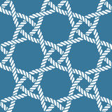 Seamless nautical rope pattern Royalty Free Stock Image