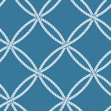 Seamless nautical rope pattern Stock Photography
