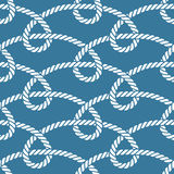 Seamless nautical rope pattern Stock Images
