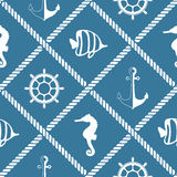 Seamless nautical rope pattern Royalty Free Stock Photos