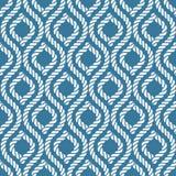 Seamless nautical rope pattern Royalty Free Stock Image