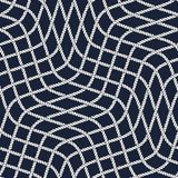 Seamless nautical rope pattern Stock Photo
