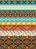 Seamless navajo geometric pattern. With arrow Royalty Free Stock Photography