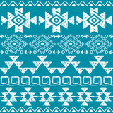 Seamless Navajo hand drawn print, retro Aztec pattern, Tribal design with scratches Stock Images