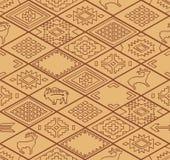 Seamless navajo pattern with rhombus. Line vector Stock Photo
