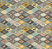 Seamless navajo pattern with rhombus. Pencil Drawing Royalty Free Stock Images