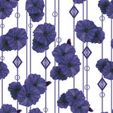 Seamless navy poppy flowers pattern background Stock Photography