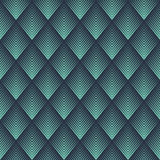 Seamless neon blue op art rhombic chevron blend pattern vector. Seamless neon blue op art rhombic chevron blend pattern Stock Image