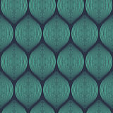 Seamless neon blue optical illusion woven pattern vector. Seamless neon blue optical illusion woven pattern Stock Photos