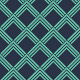 Seamless neon blue vintage art deco pointing squares pattern vector. Seamless neon blue vintage art deco pointing squares pattern Royalty Free Stock Images