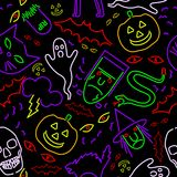 Seamless neon Halloween Royalty Free Stock Photos