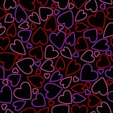 Seamless neon heart background Royalty Free Stock Photography