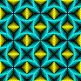 Seamless Neon Light Pattern. Abstract Blue and Yellow Background Royalty Free Stock Photo