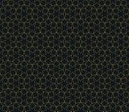Seamless neon orange islamic hexagonal star ethnic geometric pattern vector Royalty Free Stock Photo