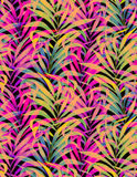 Seamless neon palm pattern Royalty Free Stock Photo