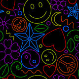 Seamless Neon Pattern Stock Images