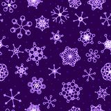 Seamless neon snow background Royalty Free Stock Photos