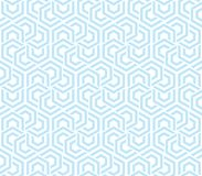 Abstract geometric background blue and white hexagons. Seamless neutral background blue and white hexagons. Abstract geometric pattern, illustration, vector Stock Images
